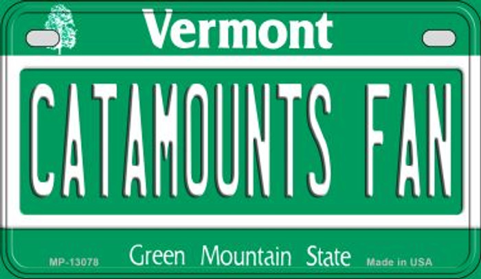 Catamounts Fan Novelty Metal Motorcycle Plate MP-13078