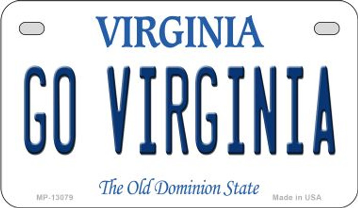 Go Virginia Novelty Metal Motorcycle Plate MP-13079