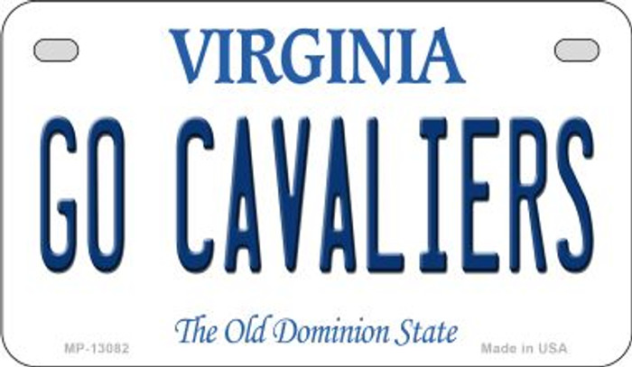 Go Cavaliers Novelty Metal Motorcycle Plate MP-13082