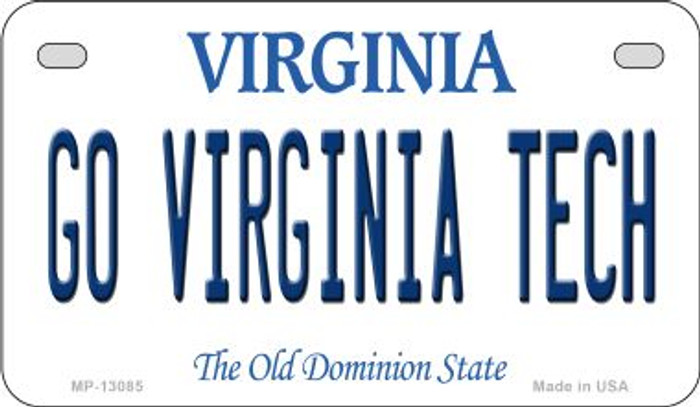 Go Virginia Tech Novelty Metal Motorcycle Plate MP-13085