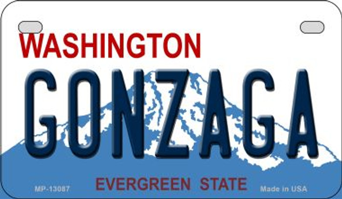 Gonzaga Novelty Metal Motorcycle Plate MP-13087