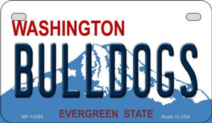 Bulldogs Novelty Metal Motorcycle Plate MP-13090