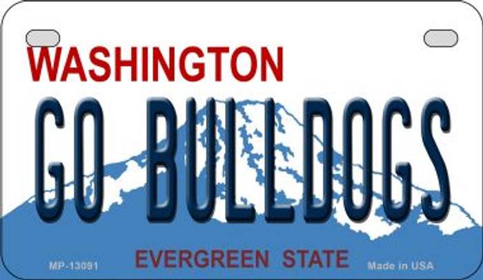 Go Bulldogs Novelty Metal Motorcycle Plate MP-13091