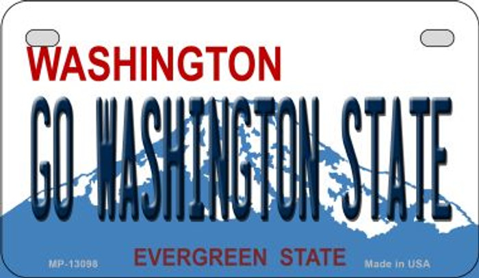 Go Washington State Novelty Metal Motorcycle Plate MP-13098