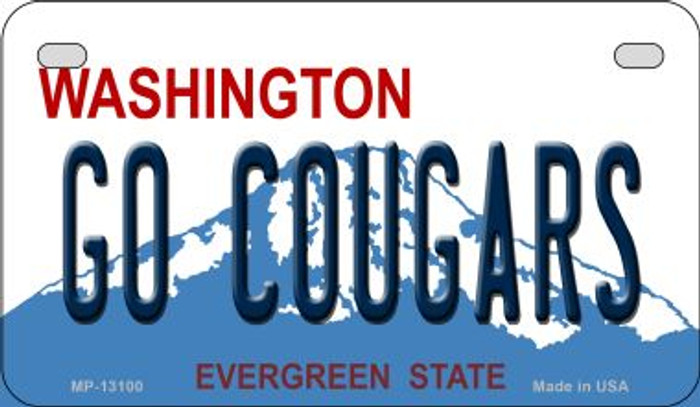 Go Cougars Novelty Metal Motorcycle Plate MP-13100