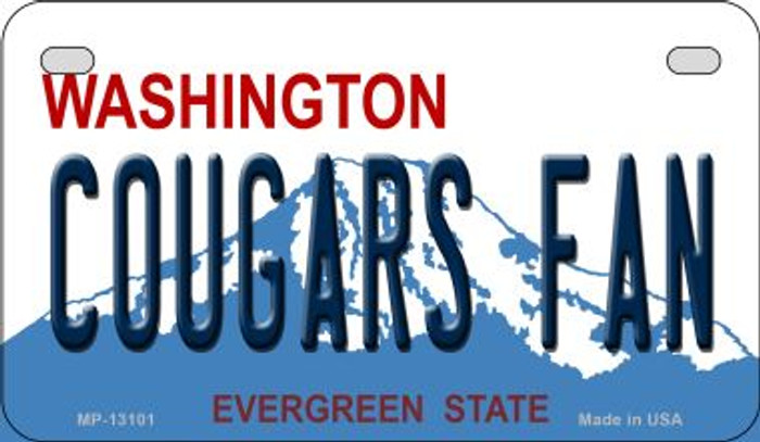 Cougars Fan Novelty Metal Motorcycle Plate MP-13101