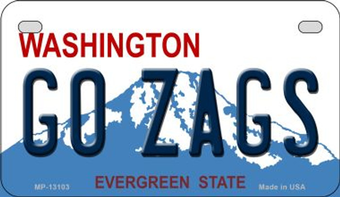 Go Zags Novelty Metal Motorcycle Plate MP-13103