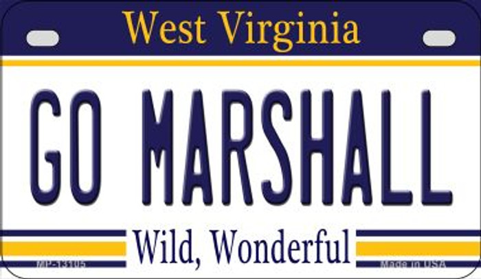 Go Marshall Novelty Metal Motorcycle Plate MP-13105
