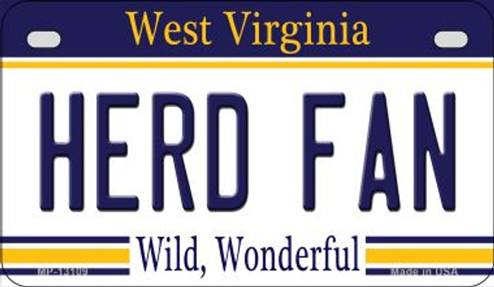 Herd Fan Novelty Metal Motorcycle Plate MP-13109