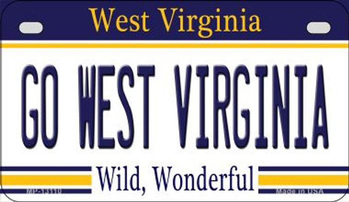 Go West Virginia Novelty Metal Motorcycle Plate MP-13110