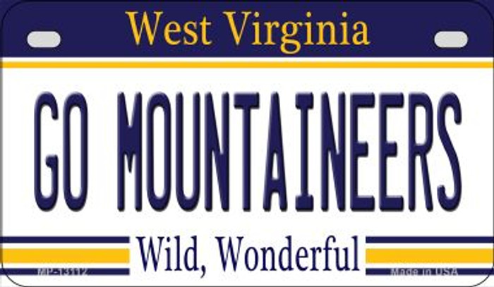 Go Mountaineers Novelty Metal Motorcycle Plate MP-13112