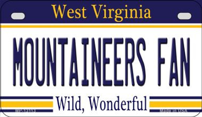 Mountaineers Fan Novelty Metal Motorcycle Plate MP-13113