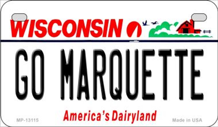Go Marquette Novelty Metal Motorcycle Plate MP-13115