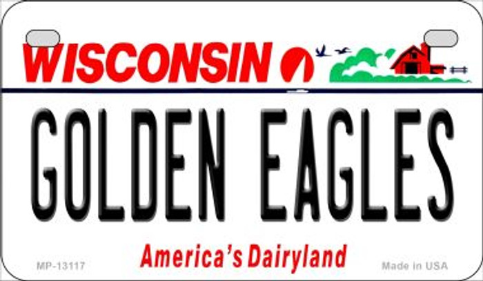 Golden Eagles Novelty Metal Motorcycle Plate MP-13117