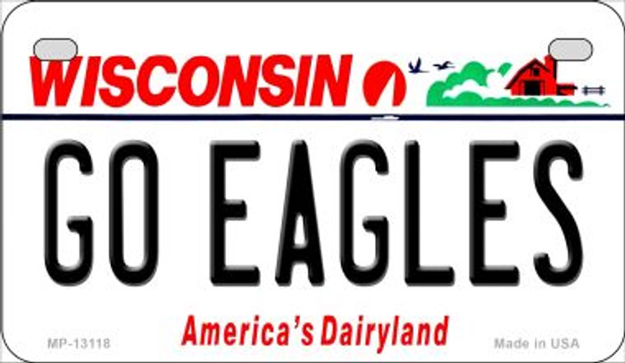 Go Eagles Novelty Metal Motorcycle Plate MP-13118