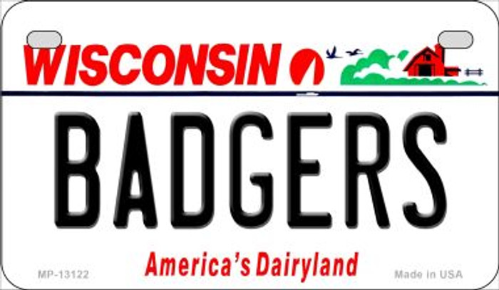 Badgers Novelty Metal Motorcycle Plate MP-13122