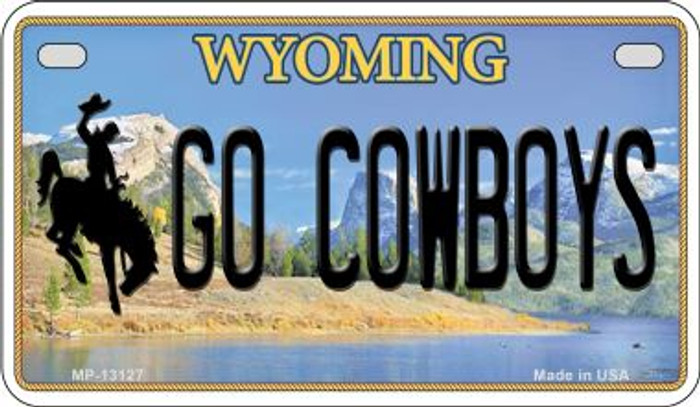 Go Cowboys Novelty Metal Motorcycle Plate MP-13127