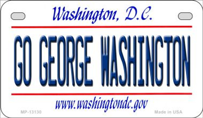 Go George Washington Novelty Metal Motorcycle Plate MP-13130