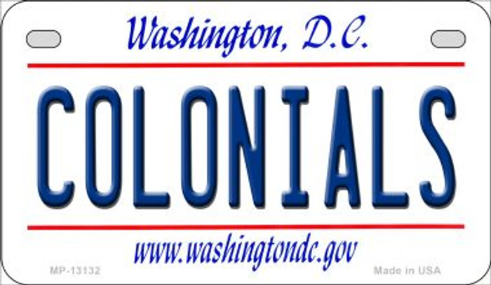 Colonials Novelty Metal Motorcycle Plate MP-13132