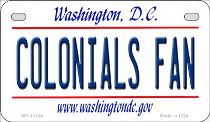 Colonials Fan Novelty Metal Motorcycle Plate MP-13134
