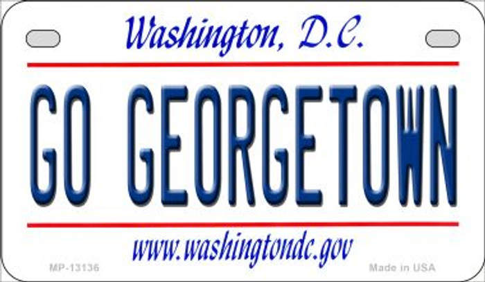 Go Georgetown Novelty Metal Motorcycle Plate MP-13136