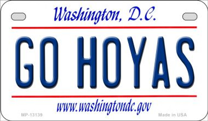 Go Hoyas Novelty Metal Motorcycle Plate MP-13139
