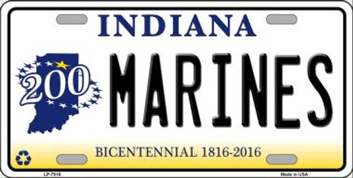 Indiana Marines Novelty Metal License Plate LP-7916