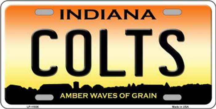 Indiana Colts Novelty Metal License Plate LP-11936