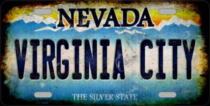 Nevada Virginia City Novelty Metal License Plate LP-12066