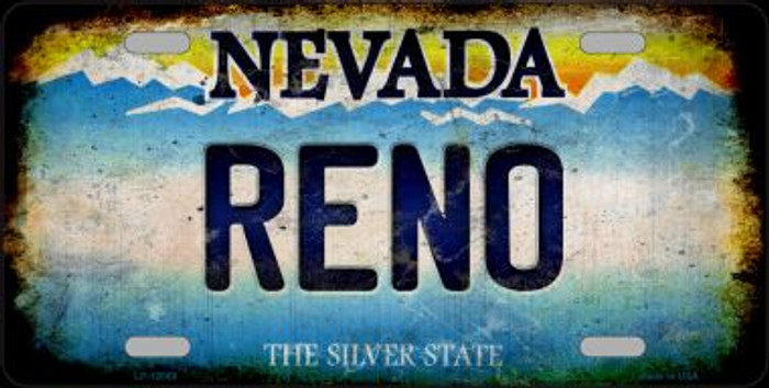 Nevada Reno Novelty Metal License Plate LP-12068