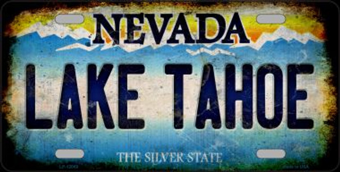 Nevada Lake Tahoe Novelty Metal License Plate LP-12069
