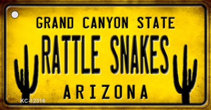 Arizona Rattle Snakes Novelty Metal Key Chain KC-12316