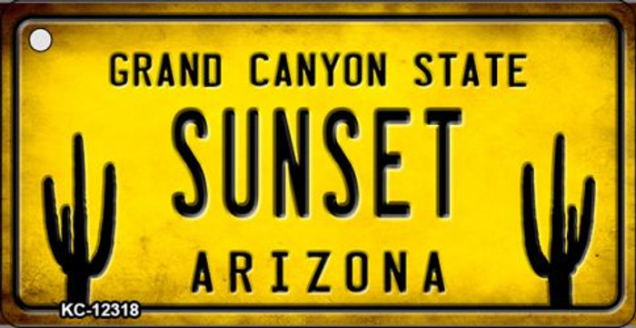 Arizona Sunset Novelty Metal Key Chain KC-12318
