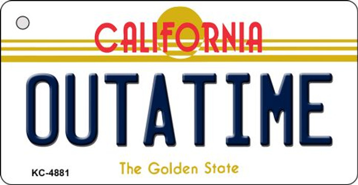 California Outtatime Novelty Metal Key Chain KC-4881