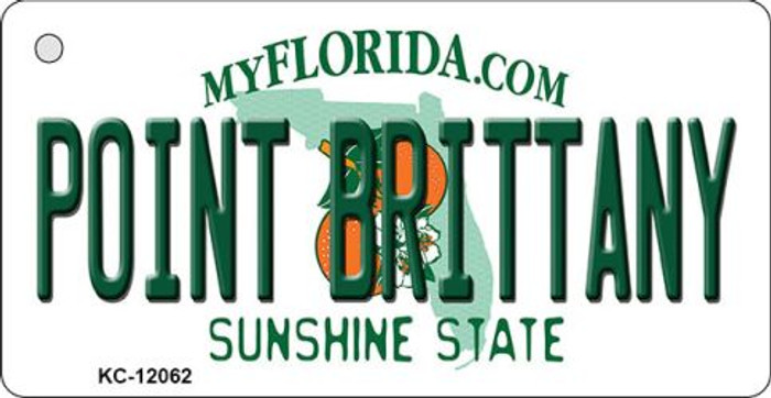 Florida Point Brittany Novelty Metal Key Chain KC-12062