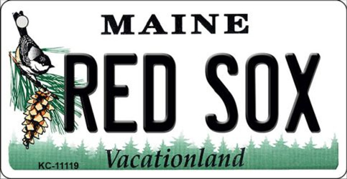 Maine Red Socks Novelty Metal Key Chain KC-11119