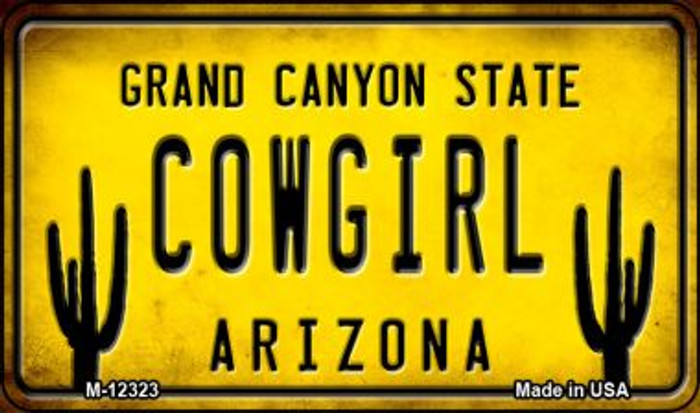 Arizona Cowgirl Novelty Metal Magnet M-12323