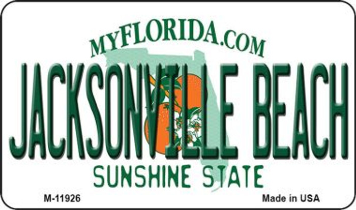 Florida Jacksonville Beach Novelty Metal Magnet M-11926