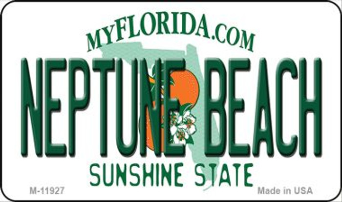 Florida Neptune Beach Novelty Metal Magnet M-11927