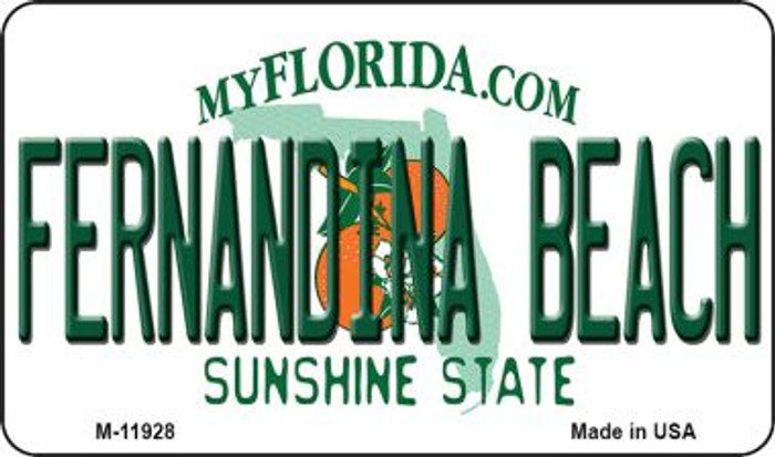 Florida Fernandina Beach Novelty Metal Magnet M-11928