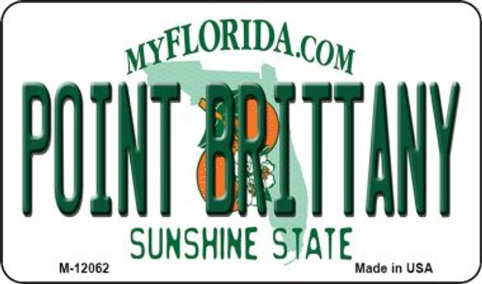 Florida Point Brittany Novelty Metal Magnet M-12062