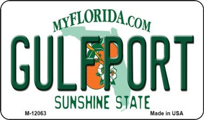 Florida Gulfport Novelty Metal Magnet M-12063