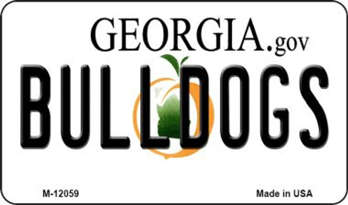Georgia Bulldogs Novelty Metal Magnet M-12059