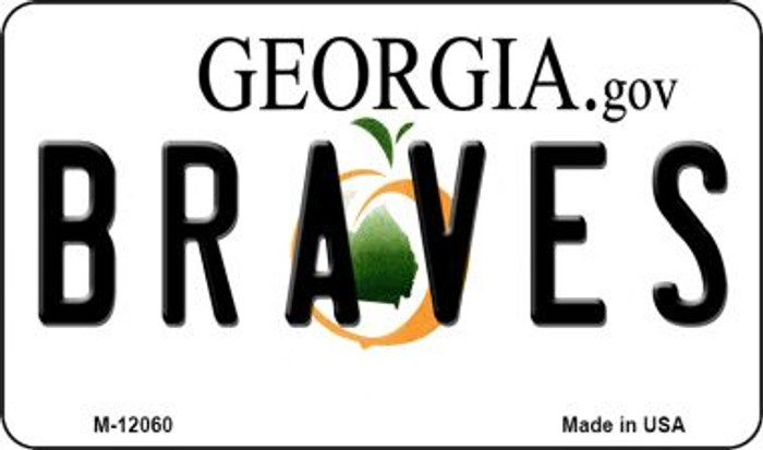 Georgia Braves Novelty Metal Magnet M-12060
