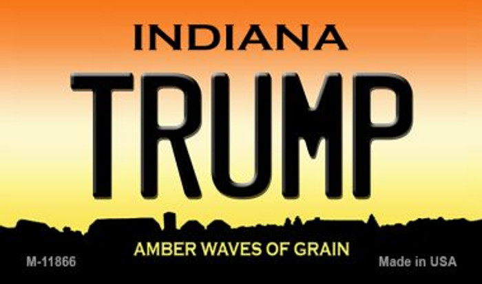 Indiana Trump Novelty Metal Magnet M-11866