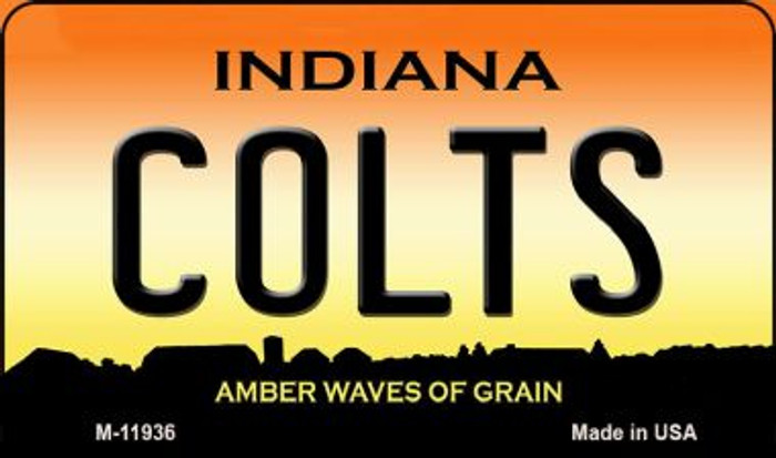 Indiana Colts Novelty Metal Magnet M-11936