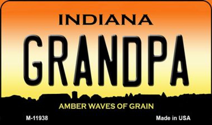 Indiana Grandpa Novelty Metal Magnet M-11938