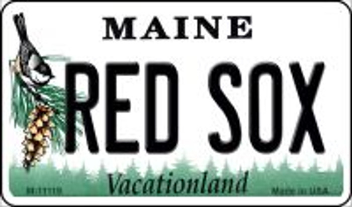 Maine Red Sox Novelty Metal Magnet M-11119