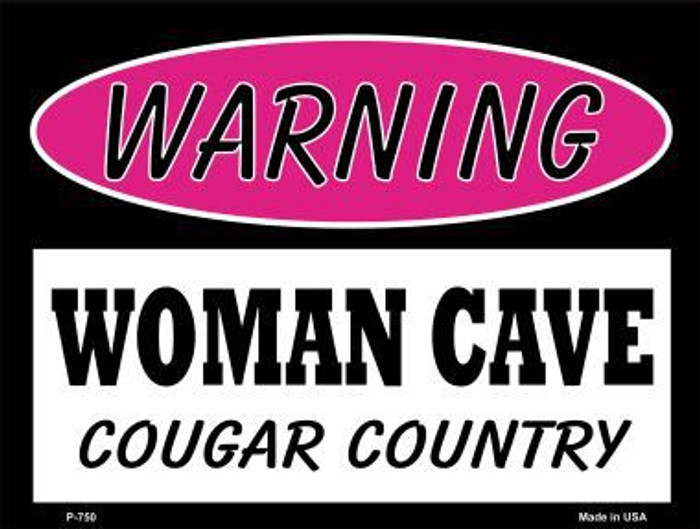 Cougar Country Metal Novelty Parking Sign P-750