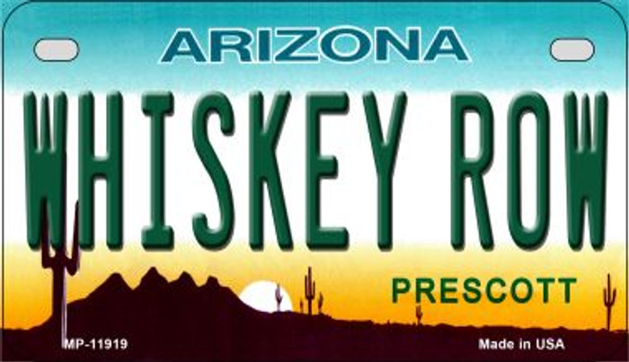 Arizona Whiskey Row Novelty Metal Motorcycle Plate MP-11919